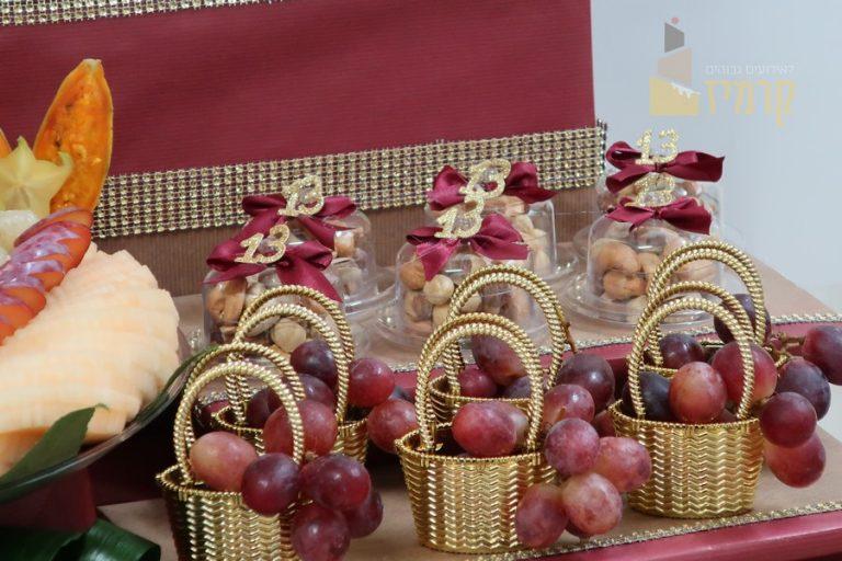 קרמיז לאירועים גבוהים - עיצובי פירות - סלסלת ענבים