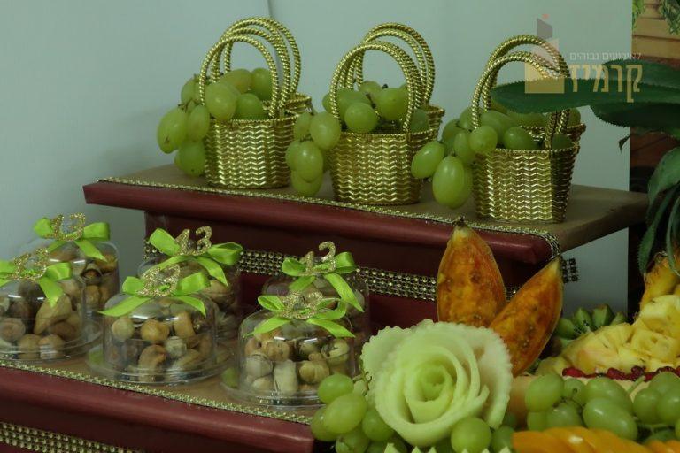 קרמיז לאירועים גבוהים - עיצובי פירות - סלסלאות ענבים